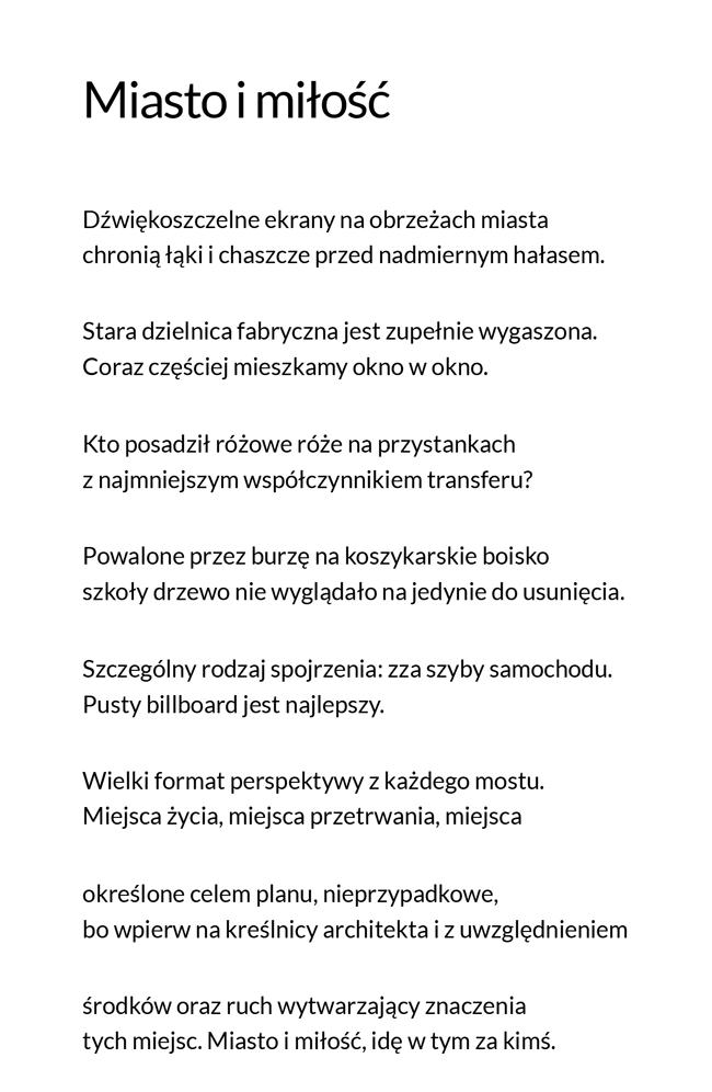Maciej Skomorowski - Miasto i miłość - Obszary Przepisane